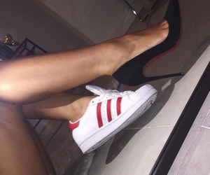 shoes, adidas, and heels image