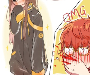 mystic messenger, Mc, and 707 image