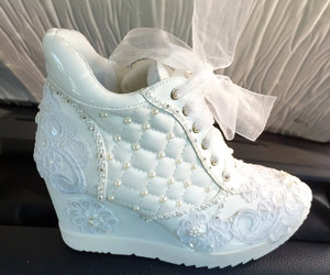 etsy, white shoes, and bridal shoes image