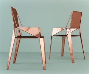 chairs, copper, and decor image