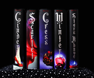books, cress, and scarlet image