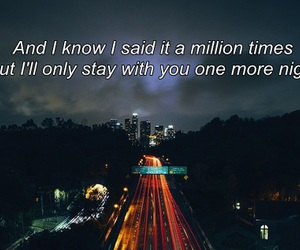 Lyrics, maroon 5, and one more night image