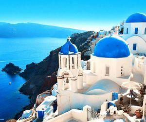 Greece, blue, and santorini image