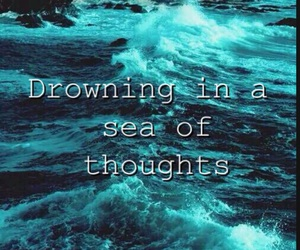 anxiety, anxious, and drowning image