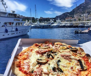 food, pizza, and goals image