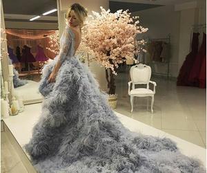 dress, grey, and luxury image