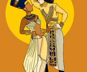 African woman, egyptian, and artwork image