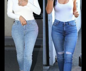fashion, kim kardashian, and kylie jenner image