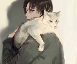 boy, cat, and anime image