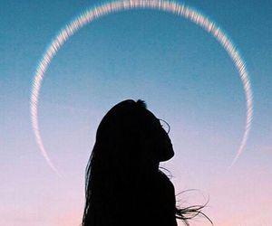 girl, sky, and tumblr image