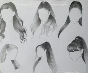 draw, ariana grande, and hair image