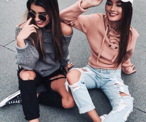 besties, outfit goals, and cool image