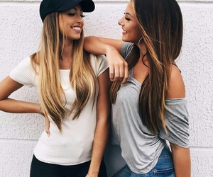 girls, best friends, and hair image
