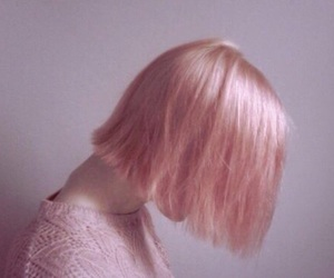 aesthetic, pinky, and hair image