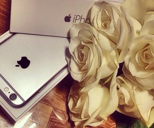 iphone, apple, and rose image