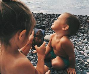 kids, baby, and beach image