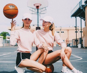 Basketball, girl, and friends image