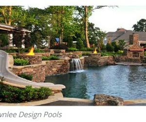 backyard, modern, and natural image