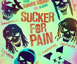suicide squad, imagine dragons, and sucker for pain image