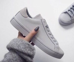 shoes and gray image