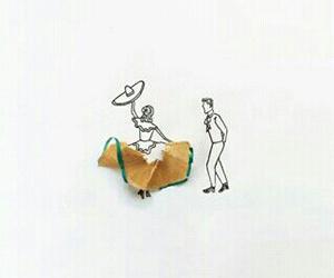 dance, méxico, and dibujo image