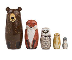 animals, bear, and fox image