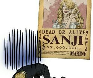 sanji, one piece, and anime image
