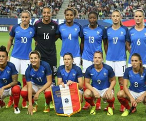 foot, equipe de france, and woman football image