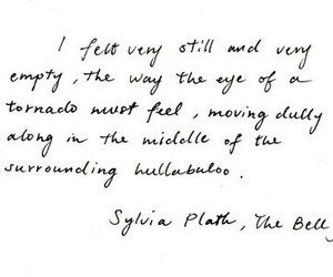 empty, feel, and sylvia plath image
