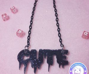 black, goth, and jewelry image