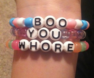 mean girls, boo you whore, and bracelet image