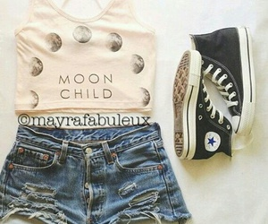 converse, look, and jeans image