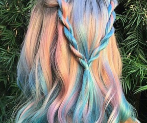cabelo, colorful, and tumblr image
