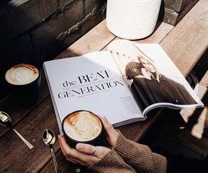 coffee, brown, and magazine image