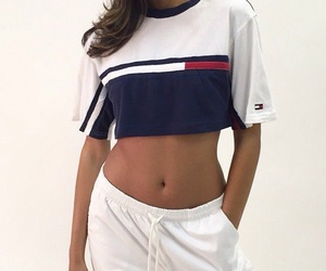 fashion, tommy hilfiger, and white image