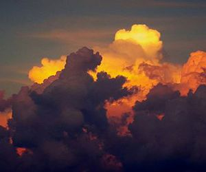 clouds, nature, and ornage image