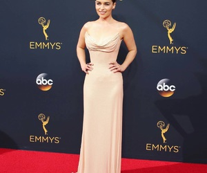 outfit, red carpet, and emmys image