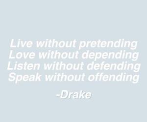 quote, Drake, and Lyrics image
