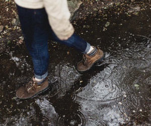 nature, rain, and boots image