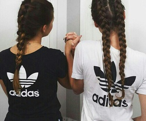 adidas, hair, and friends image