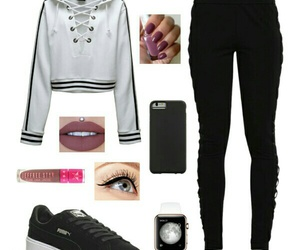 black and white, jeffree star, and outfit image