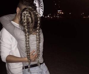 couple, love, and kiss image