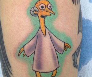 tattoo, the simpsons, and grunge image