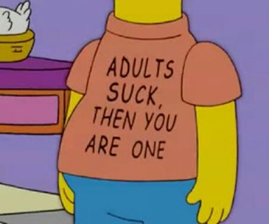 Adult, simpsons, and sucks image