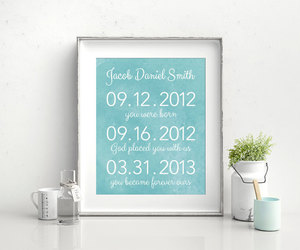 adopted, baby shower gift, and familyphotodisplay image