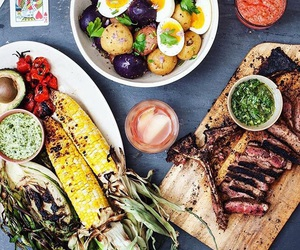food, corn, and dinner image