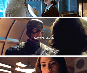 captain america, steve rogers, and peggy carter image