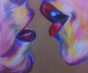 drawing, kiss, and colors image