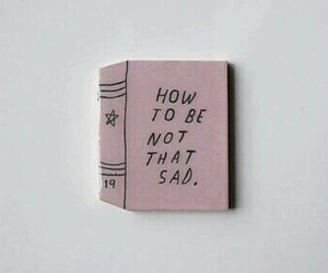 sad, book, and pink image