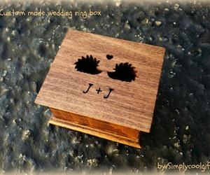 ring box, wooden ring box, and wedding ring box image